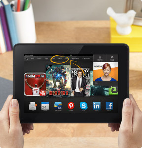 Kindle Fire HDX mano