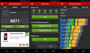 AnTuTu smartphone app muestra especificaciones del movil