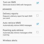 Hangouts con SMS y MMS
