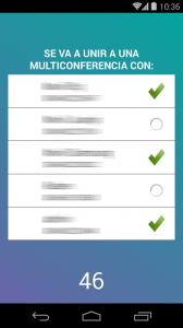 Multiconferencia con aplicacion ZeroApp