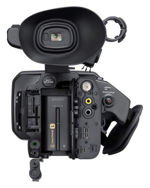 videocamara Sony XDCAM PXW Z150 opciones de conexion